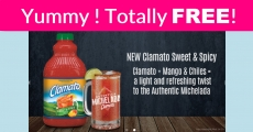 HURRY! Free Clamato Sweet and Spicy party Packs !