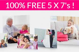 Totally FREE TWO 5×7 prints !