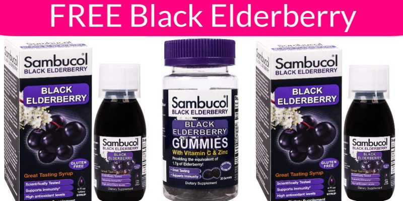 Possible FREE Sambucol Black Elderberry Products!