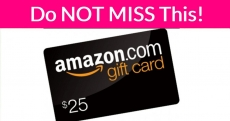 RUN !!!!!!!! FREE $25 Amazon Credit !
