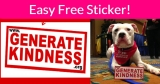 Get a FREE Generate Kindness Sticker!