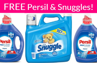 Totally FREE Persil AND Snuggles! So easy!