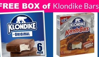 SUPER Easy! Get a FREE BOX of Klondike bars. Yummy.