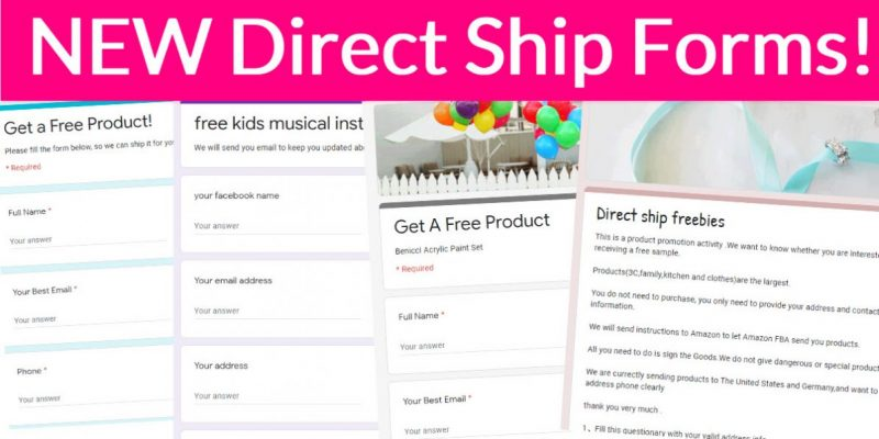 6 NEW Direct Ship Forms!