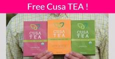Totally FREE BOX of Cusa Tea = Super Easy!
