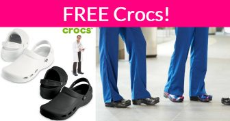 FREE Pair of Crocs for Healthcare Workers!
