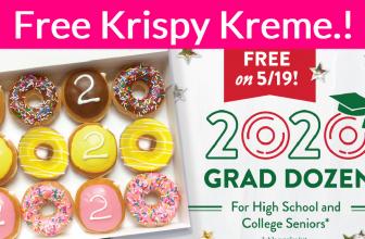 Totally FREE 1 Dozen Krispy Kreme Doughnuts!