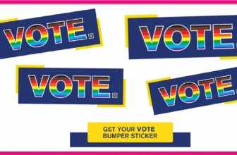 EASY FREEBIE! Free VOTE Stickers!
