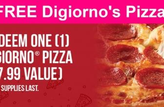 YUMMY! Free Digiorno's Pizza.