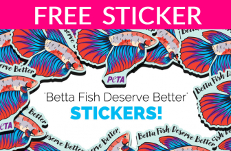 FREE Betta Fish Sticker! 🐠