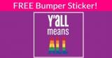 SUPER Easy FREE Bumper Sticker!