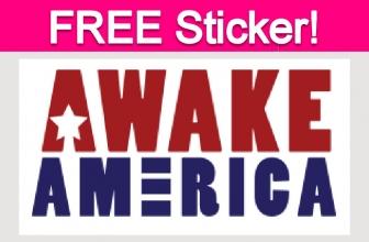Free Awake America Bumper Sticker!