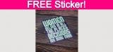 Free Women Belong Sticker!