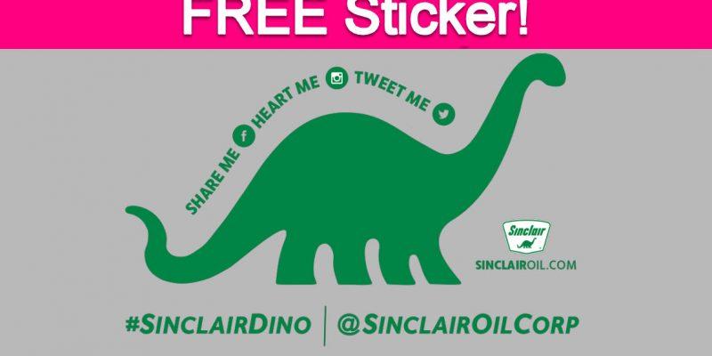 Free Sinclair Oil Dino Sticker!