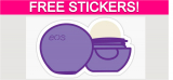 Free Stickers by Mail from eos Brand!