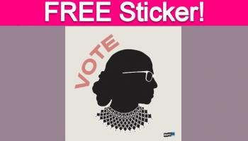 Free RBG 'Vote' Sticker!