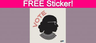 Free RBG 'Vote' Sticker!