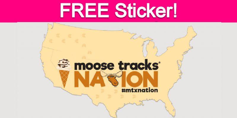 Free Moose Tracks Sticker !