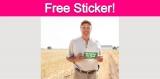 Free Bumper Sticker!