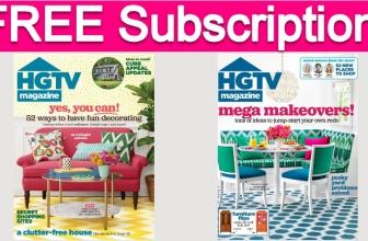 Free 2-Year Subscription to HGTV Magazine!