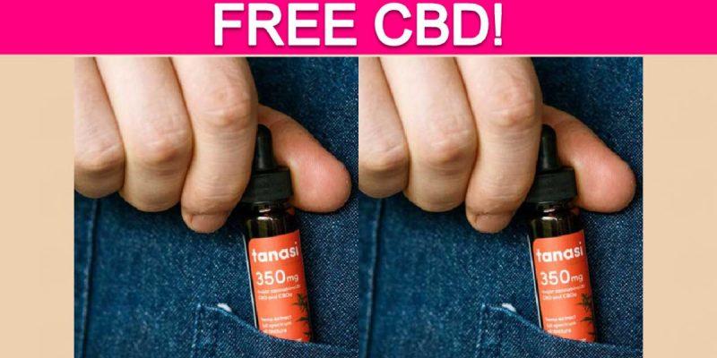 Free Tanasi CBD Tincture!