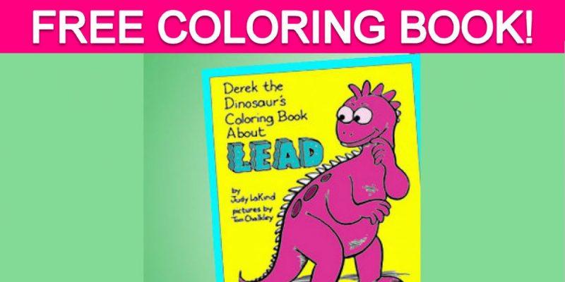 Free Derek the Dinosaur's Coloring Book