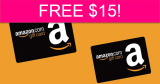 Possible FREE $15 at Amazon!