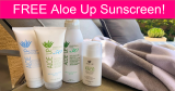 FREE Aloe Up Sunscreen Sample by Mail!