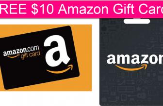 HURRY! FREE $10 Amazon Credit!