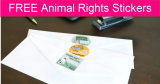 FREE Animal Rights Stickers by Mail!