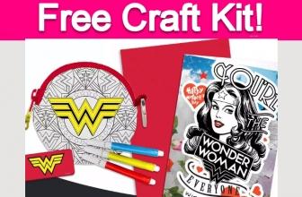 Free Wonder Woman Mother's Day Craft Kit!