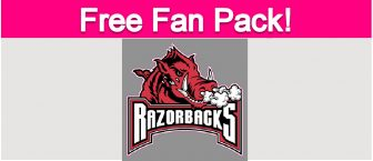 Free Arkansas Razorbacks Fan Pack!