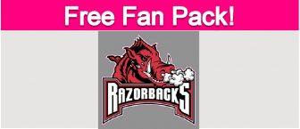 Free Arkansas Razorbacks Fan Pack!