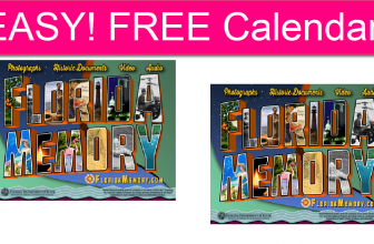 EASY! FREE Florida Memories 2022 Calendar!