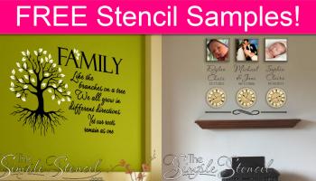 FREE Simple Stencil Samples!