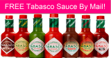 Completely FREE Tabasco Sauce by Mail!