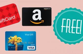 Get $14.50 FREE GIFT Card ! { Target, Amazon, Visa }