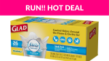 Run! Glad Small Trash Bags -156ct Over 50% OFF