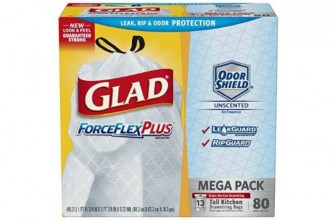 80-ct Glad ForceFlex Trash Bags Only $9.37 Shipped!