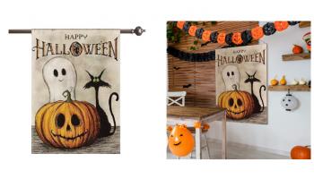 SO CUTE! Halloween Large Garden Flag CHEAP w/Code!