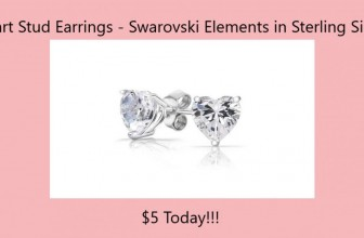Sweet Swarovski Elements Sterling Silver Heart Stud Earrings $5 (Reg $35.85)