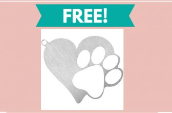 Totally – 100% FREE – Metal Heart Paw Keychain!