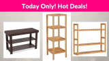 Today Only! Hot Deal on SONGMICS Home Storage Shelves