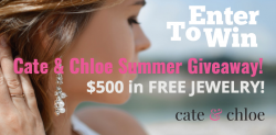 ENTER TO WIN $500 in Free Cate & Chloe Jewelry