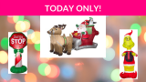 Save up to 50% on Holiday Inflatables
