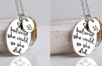 Hand Stamped Necklace ONLY $1.29 & Free Shipping!