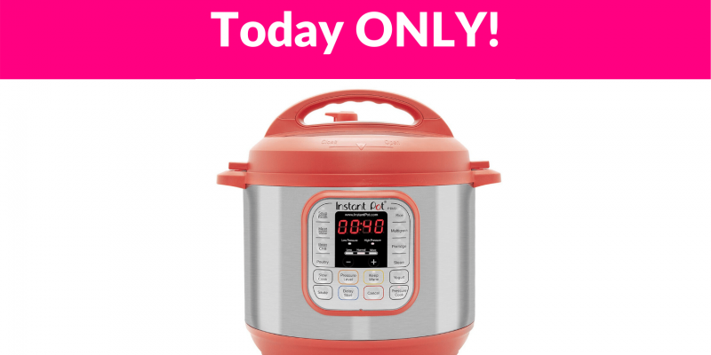 40% Off Instant Pot Duo RED 7-in-1 Multi-Use Small Appliance