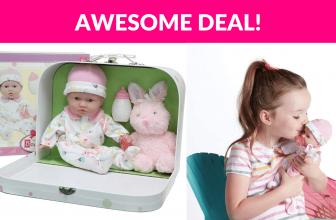 La Baby 11″ Soft Body Play Doll Body Travel Case Gift Set