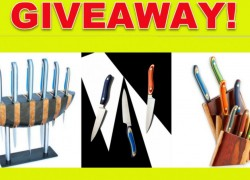 Win a 7 piece set and Knife Block from New West Knifeworks.