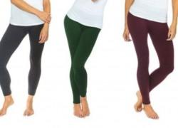 Women's Basic Fleece Lined Leggings (2-Pack) $9.99!